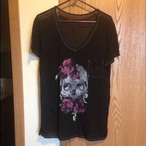 Non-brand Skull sheer t-shirt